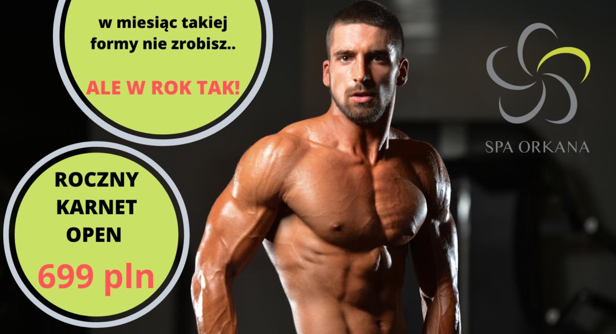 promocja karnet siłownia + fitness roczny za 699 pln